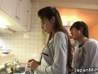 japanse seks, meest keuken mov, controleren milf vid