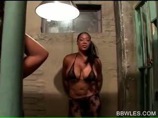 Afro BBW Horny Hoes Setting Lesbian Gangbang