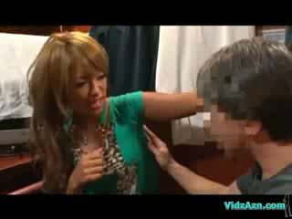 Zagar alan gyz getting her goltyk body analhole and puss licked on the mattress in the cabin