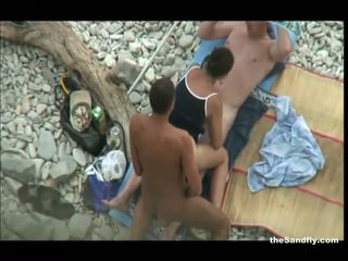 kwaliteit voyeur scène, strand, hot nudism mov
