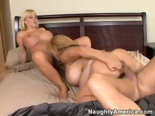 Breasty Mommys Harmony Bliss And Friend Fucking A Young Stud