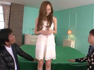 Erena Aihara looks so sweet in a cream lace dress