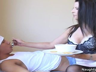 Bigtitted Milf Selena Steele Makes Love Her Sons Freind Back To Health
