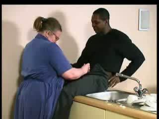 BBW Plump Mature Woman Fucked By Young Black Guy Video