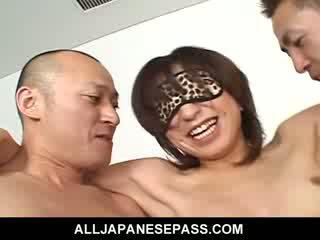 Hottie Airi Nakajima takes on two throbbing shafts at once