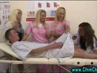 Cfnm Horny Nurses Dominate Patient Loser