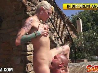 Silvia rubi tattoed blonde nailed deep