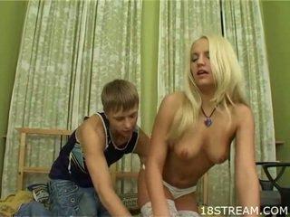 Hot teens  having lewd sex
