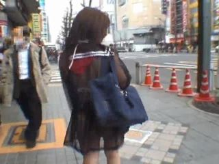 日本, 偷窺, 業餘女孩