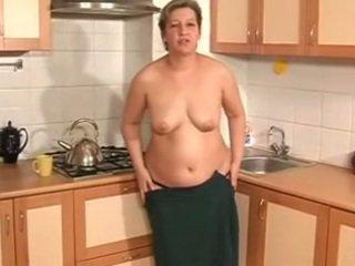 Mature with Beautiful Belly (Masturbation)