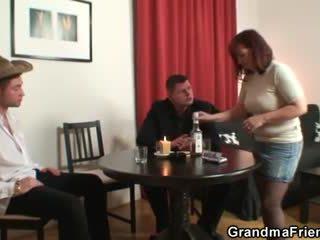 nominale oud mov, mooi grootmoeder, oma video-
