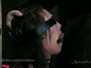 6 porn stars tied up and cumming