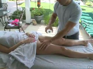 Oil massage and giant vibrator