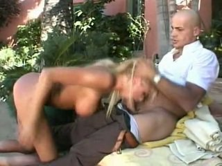 Long legged Briana Banks in anal action. Facial cumshot.