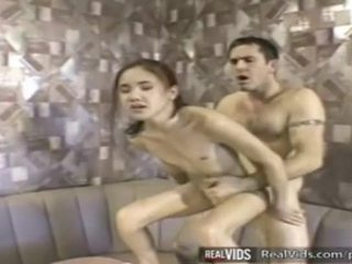 Asia waitress fucked by muscle jago