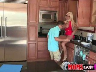 Step son fucks hot girl when home alone