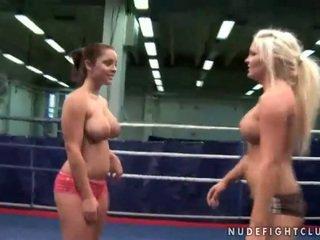 lesbisch video-, lesbische strijd porno, muffdiving