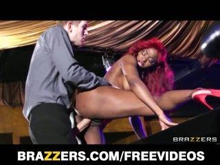Perky tits ebony stripper fucked hard in the club