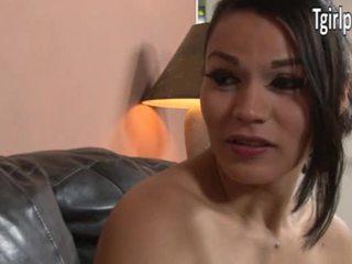 TS Gaby B sucks cock and is anal banged