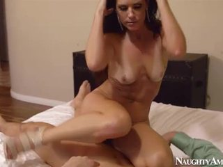 fullt brunette, cougar, fersk blowjob