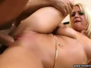 Natural Holly Morgan Receives Her Taut Pussy Pounded Hard