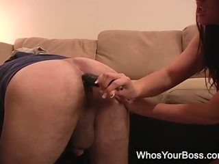 Mighty Femdom Toying A Males Ass Hard