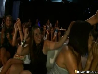 Party Babes Engulfing On A Stripper's Rockhard Rod