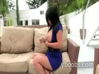 Astonishing mature brunette slut Sophia Lomeli shows off her great body