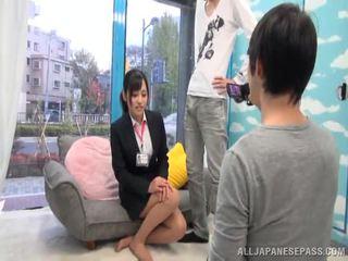 Oriental Journalist Emi Asano Has A Handful Of Sperm