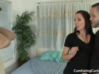 Ashley humiliates لها hubby عرض له ل كبير كوك