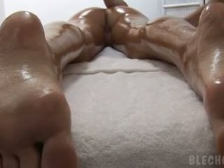 Nessa devil gets more than she bargained for from her lusty lezbo masseuse