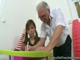 Take a tip from the tricky old teacher. When you want to fuck a student, simply manipulate them.