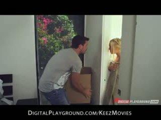 Manuel ferrara - big-tit szőke seduces neki férfi friss ki a a zuhany