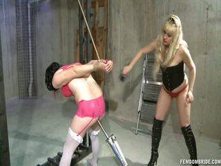 Chastity sissy máy fucked lược