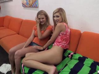 Hot girlfriend tries anal in a threesome
