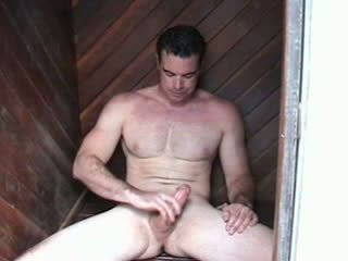 Str8 hunky arzuw man with movie star looks and body jacks off and cums twice while he talks amjagaz.