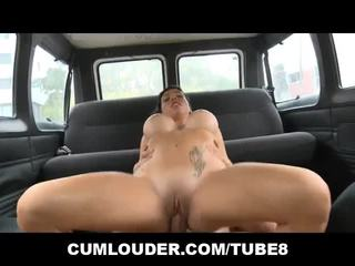 Busty Suhaila Hard shows off her big Boobs in a Van