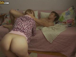 Young pirang babeh pounded by her boyfriend