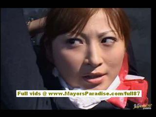 Chihiro hara いたずらな アジアの moidel ある tied アップ で 刑務所 と