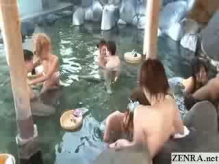 Jap swingers have outside Blow Job sex party