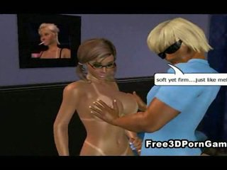 Foxy 3D cartoon blonde sucking and fucking