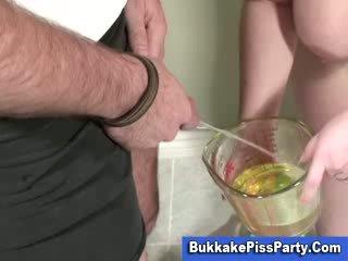 Golden shower Peeing loving slut