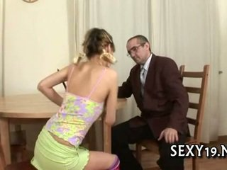 Sexy riding with aged teacher