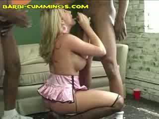 Barbi Enjoying Double ebony