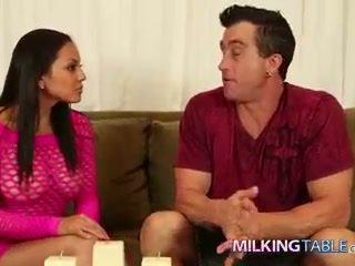 Adrianna Luna Strokes a Big Cock Under the Table