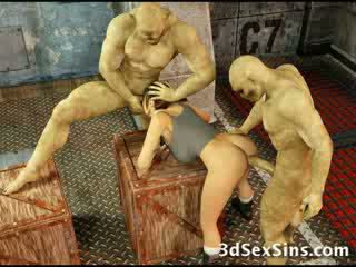Zombies cum on 3d babeh!