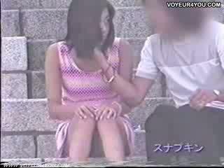 Stair Open-wide Legs Exposed
