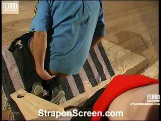 heetste strap-on scène, heet strap on bitches klem, gratis vrouwelijke dominantie