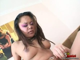 Hawt Asian Annie Cruz Receives Her Tight Anal Penetrated And Takes A Juizy Jizz
