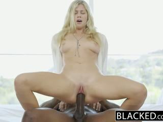 BLACKED Blonde Fashion Model Addison Belgium Squirts on Huge Black Dick!